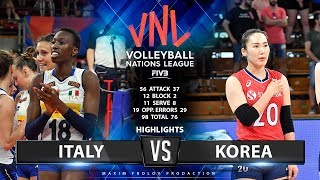 Italy vs Korea | Highlights | Women's VNL 2019