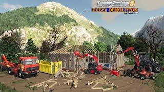 HOUSE DÉMOLITION 1/4 | Farming Simulator 19