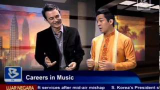 Interview with Bernama TV Malaysia about Music Careers