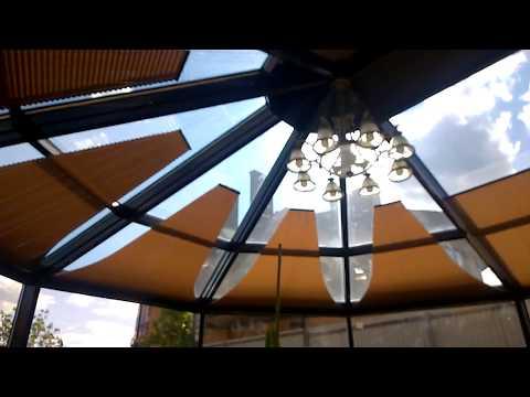 шторы плиссе для зимнего сада