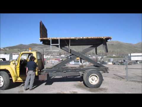 1978 Ford 7000 Scissor Lift Bed Truck Youtube