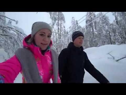 Подъем на горы Полюд и Ветлан (январь 2020). Красновишерск, Пермский край.