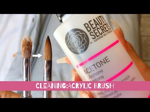 How to: CLEAN Your Acrylic Brush!!