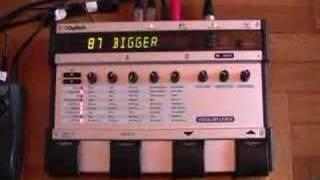 Digitech Vocalist Live 4 Demonstration of Settings - Part 1