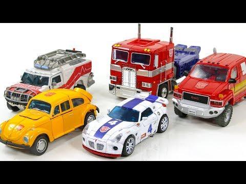 Transformers G1 Color Autobot Optimus Prime Bumblebee Jazz Ratchet Ironhide Vehicle Car Robots Toys