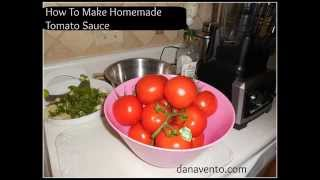 Tomato Sauce Homemade: Make Tomato Sauce With Fresh Tomatoes from the Garden Thumbnail