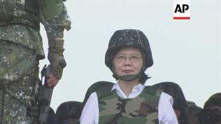 Video Taiwan president attends joint forces exercise download MP3, 3GP, MP4, WEBM, AVI, FLV November 2017