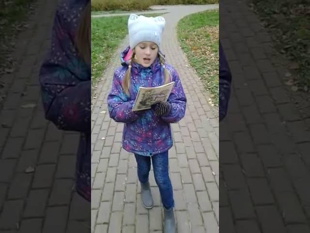 Изображение предпросмотра прочтения – «Школа 536, 3 В» читают произведение «Детская (Палочка-выручалочка…)» В.Я.Брюсова