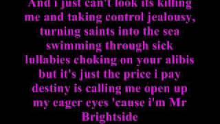 The killers Mr brightside lyrics