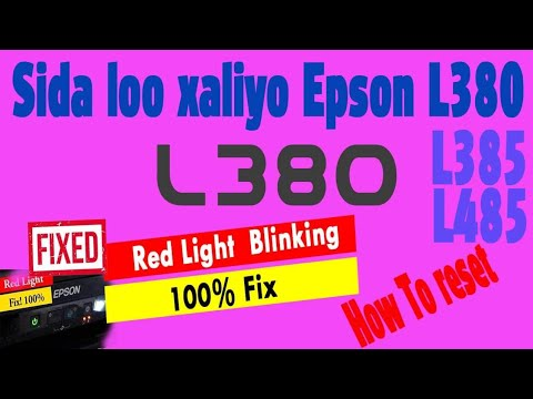 Full Download] Epson L380 Red Light Blinking Problem Solved 100