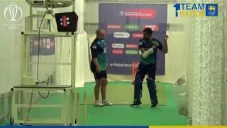 Sri Lanka team practicing at the Yorkshire County Cricket Club