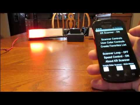 Knight Rider Scanner Remote & Android Instructional Video