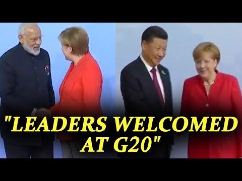 G20 Summit : German leader greets world leaders in Hamburg | Oneindia News