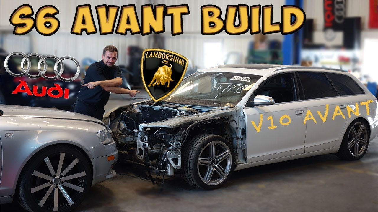 Building A Audi S6 Avant V10 52 Started As Wrecked Audi A6 From Copart Part 1