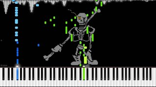 Undertale AU - DISBELIEF (Papyrus's Genocide Route Theme)   LyricWulf Piano Tutorial on Synthesia