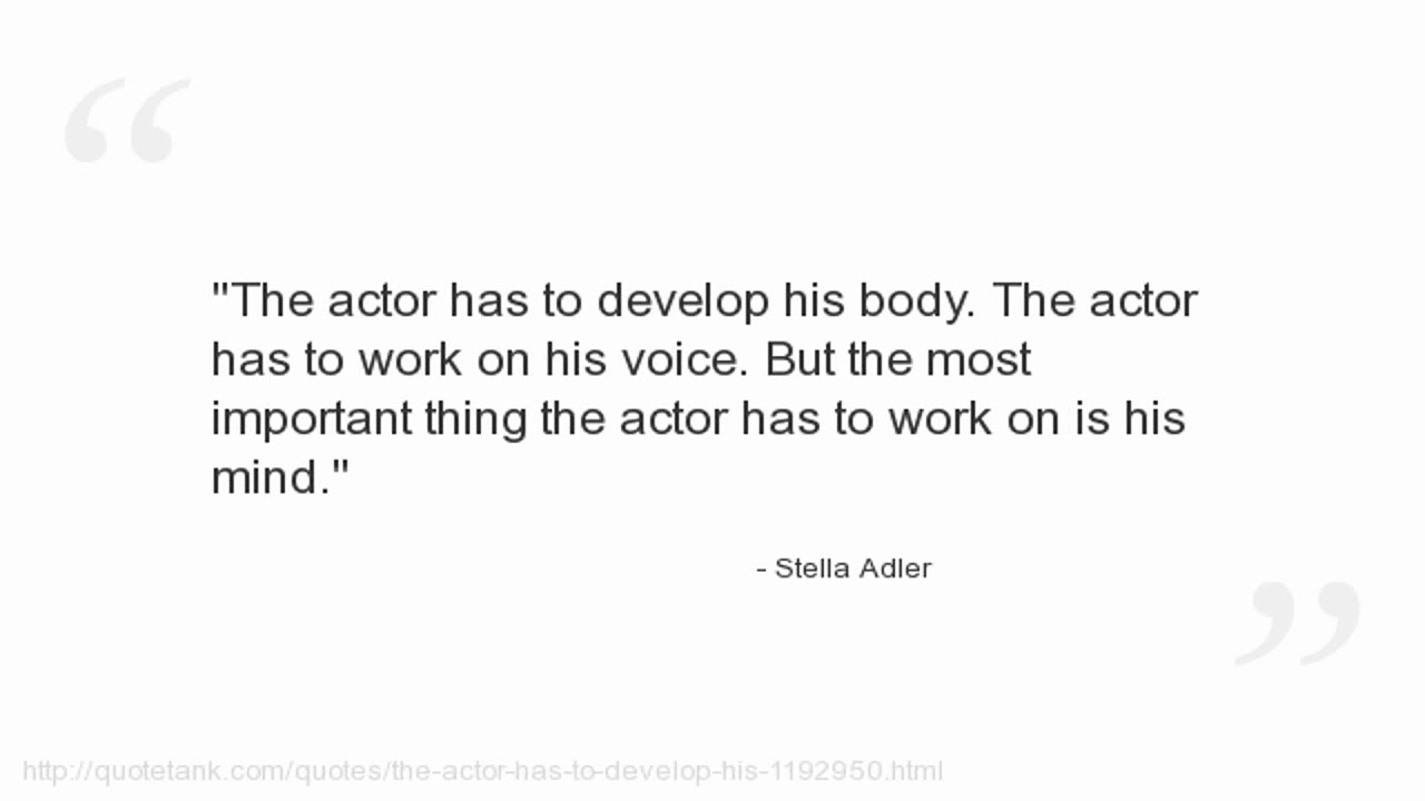 Stella Adler Quotes - YouTube