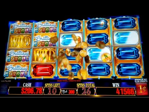Brilliant Jewels Slot Machine 250X *HUGE WIN* All Jewels Bonus!