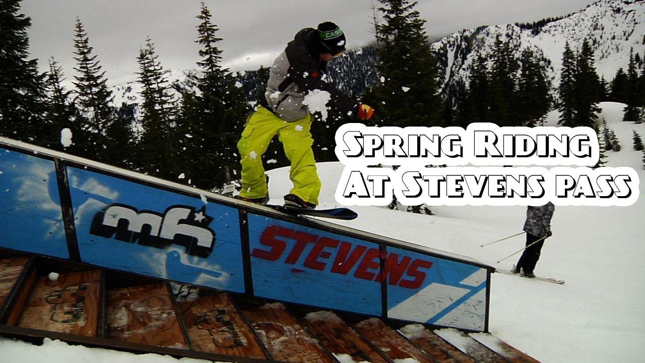 5ba5e6f3df19 Stevens Pass Spring Snowboard Park Shred - YouTube