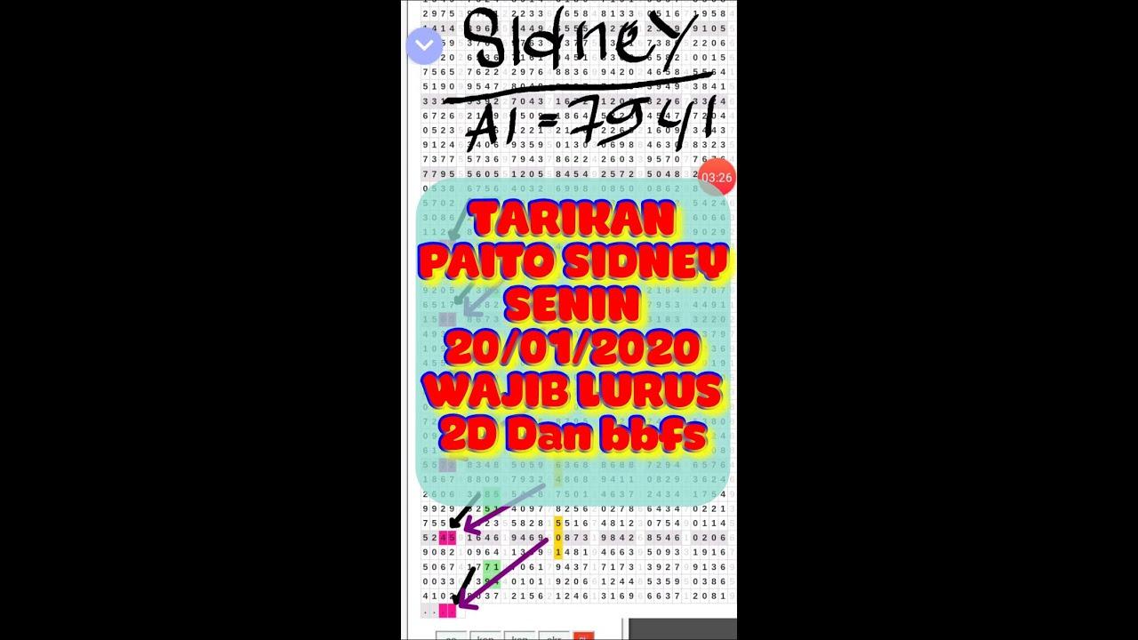 PREDIKSI TARIKAN PAITO SIDNEY SENIN 20/01/2020 - YouTube
