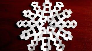 как сделать из бумаги маленькую снежинку видео схемы шаблоны