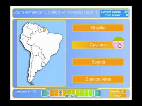 Learn South American Capitals YouTube - South american capitals