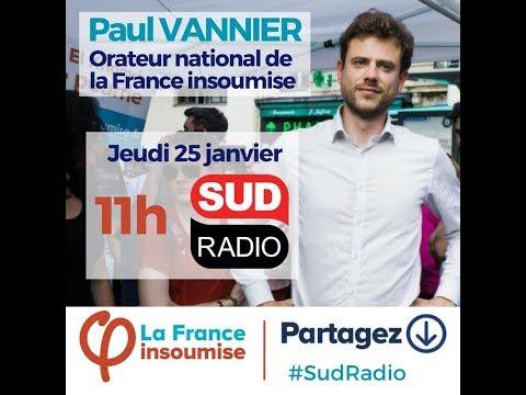 Débat avec Paul Vannier (FI) sur Sud Radio