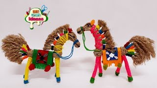 how to make horse with jute roap | Horse |jute horse making |craft making | arush diy craft  ideas