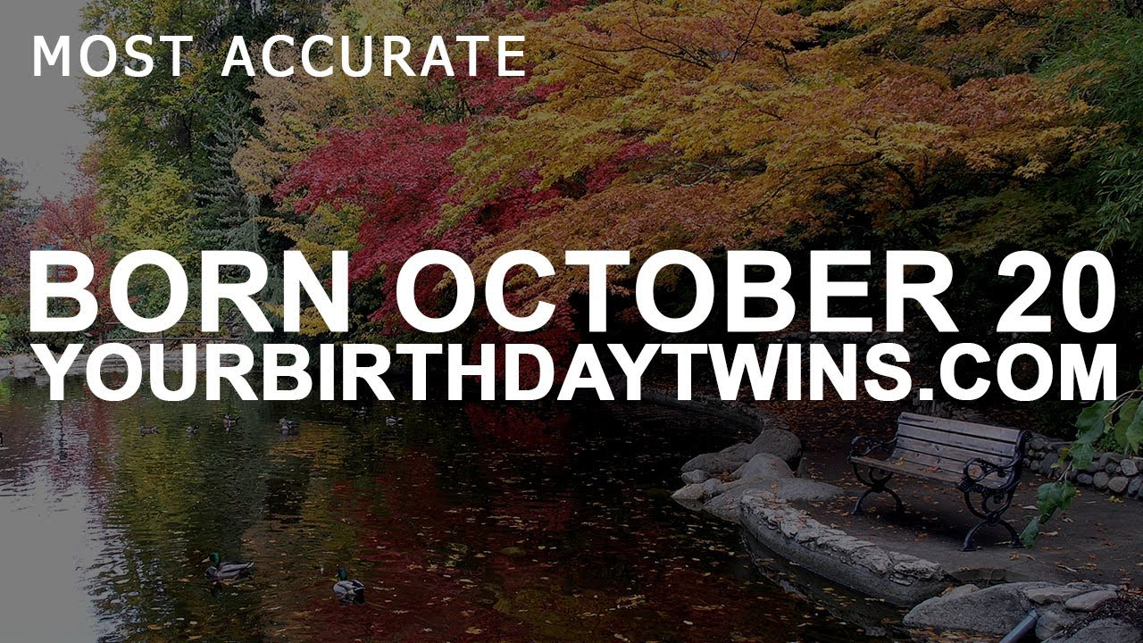 astrology for october 20 birthday