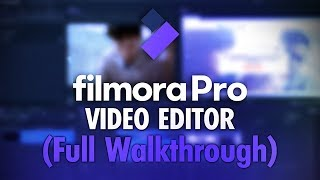 how To Use FilmoraPro Video Editor (Tutorial)