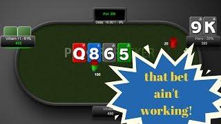 Leak: Inefficient turn cbet sizing | 5-min poker coach