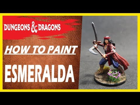 How To Paint| Esmeralda dungeons and dragons [wizkids]