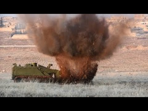 Do you want to know how Russians clear mines in Syria? Uran 6 mine clearing robot