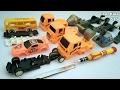 Bongkar Mainan Bus, Truk Mixer, Excavator, Mobil Sport I Toys For Kids