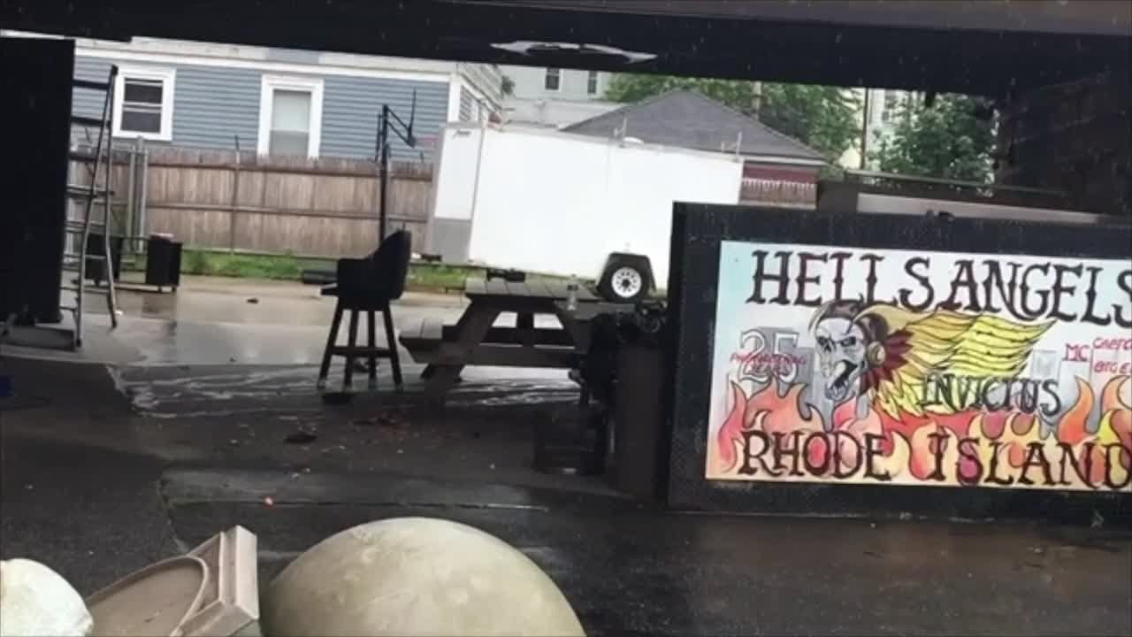 Video Now: Hells Angels Clubhouse Day After Raid