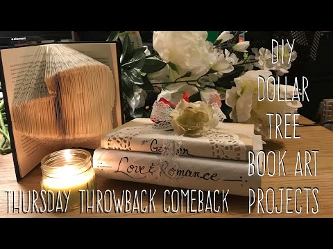 DIY Dollar Tree  Book Art Projects-Thursday Throwback Comeback