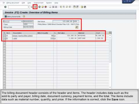 Demo 5 8 Process Billing for a Sales Order - YouTube