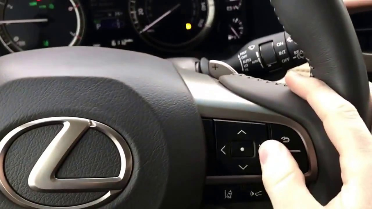 Raising And Lowering Heads Up Display In A 2016 2017 Lexus W Heads