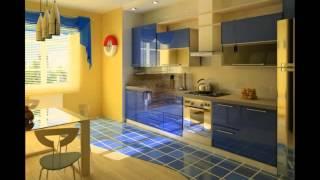 видео Синие кухни