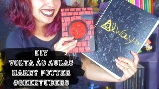 DIY - Volta às Aulas #Geektubers - Agenda 9 3/4 e Caderno Relíquias da Morte | Suelen Candeu