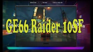 Обзор ноутбука MSI GE66 Raider 10SF