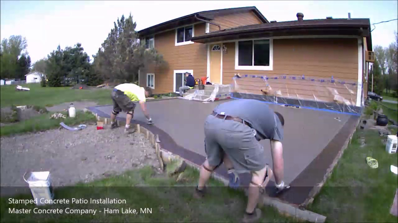 Stamped Concrete Patio Time Lapse