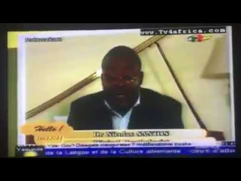 Dr. Nicolas Santos Talks about Postpartum Depression in Women over Cameroon Radio Television. Part 1