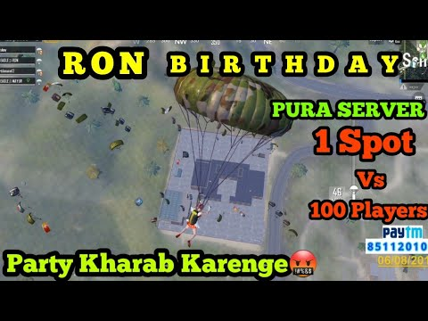 RON KE BIRTHDAY PARTY ME HUI TABAHI | 100 PLAYERS LAND ONE SPOT | PUBG MOBILE