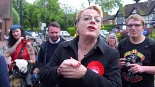 Eddie Izzard in Earlsdon Coventry for Labour's Jim Cunningham
