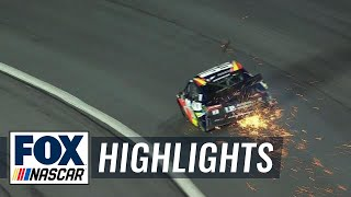 Alex Bowman suffers heavy damage after slamming the wall | 2018 All-STAR RACE | FOX NASCAR