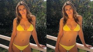Elizabeth Hurley Exhibits Her Age Defying Figure In A Sunshine Yellow Bikini