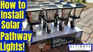Hampton Bay Solar Lights Install - Set up & Review - Quick & Easy Install!