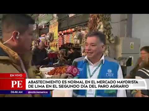 Primera Edición: abastecimiento en Mercado Mayorista es normal pese al paro agrario