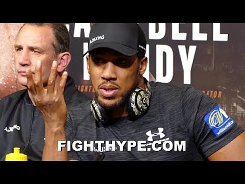 """ANTHONY JOSHUA RESPONDS TO TYSON FURY; TELLS HIM HE CAN GET IT """"IF HE'S READY"""""""