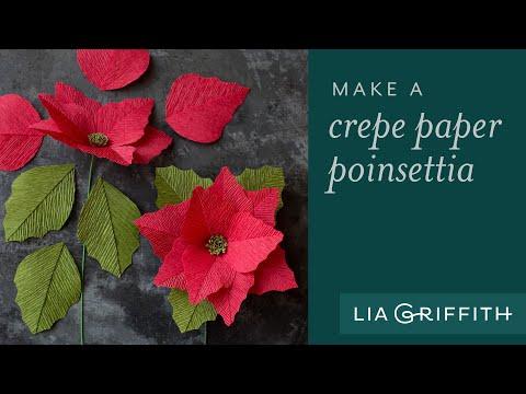 Make A Simple Crepe Paper Poinsettia
